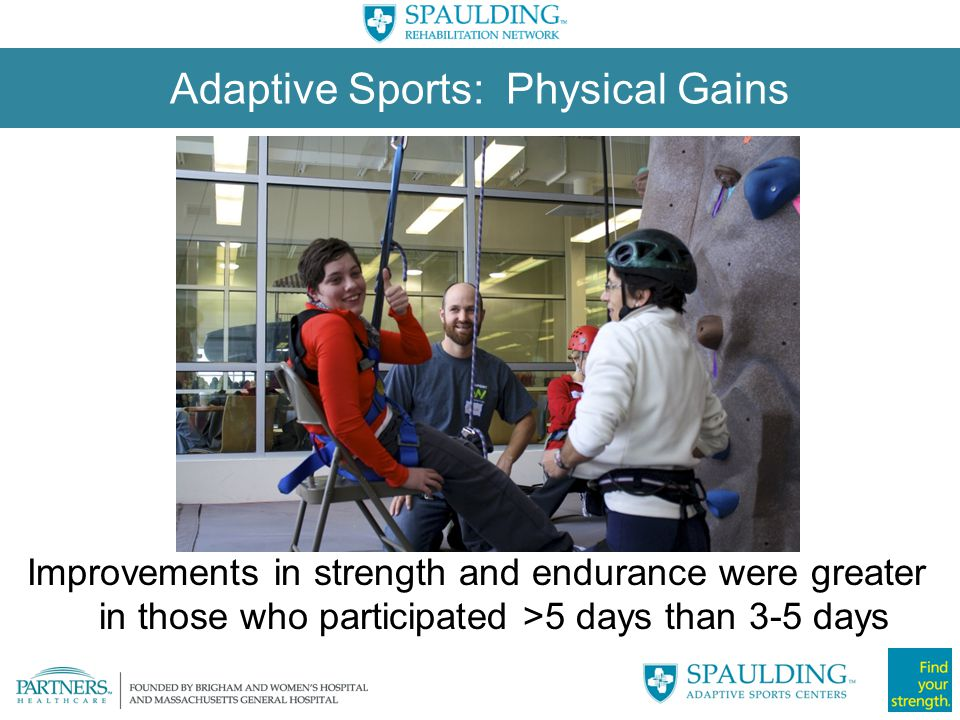 Adaptive Sports: Physical Gains