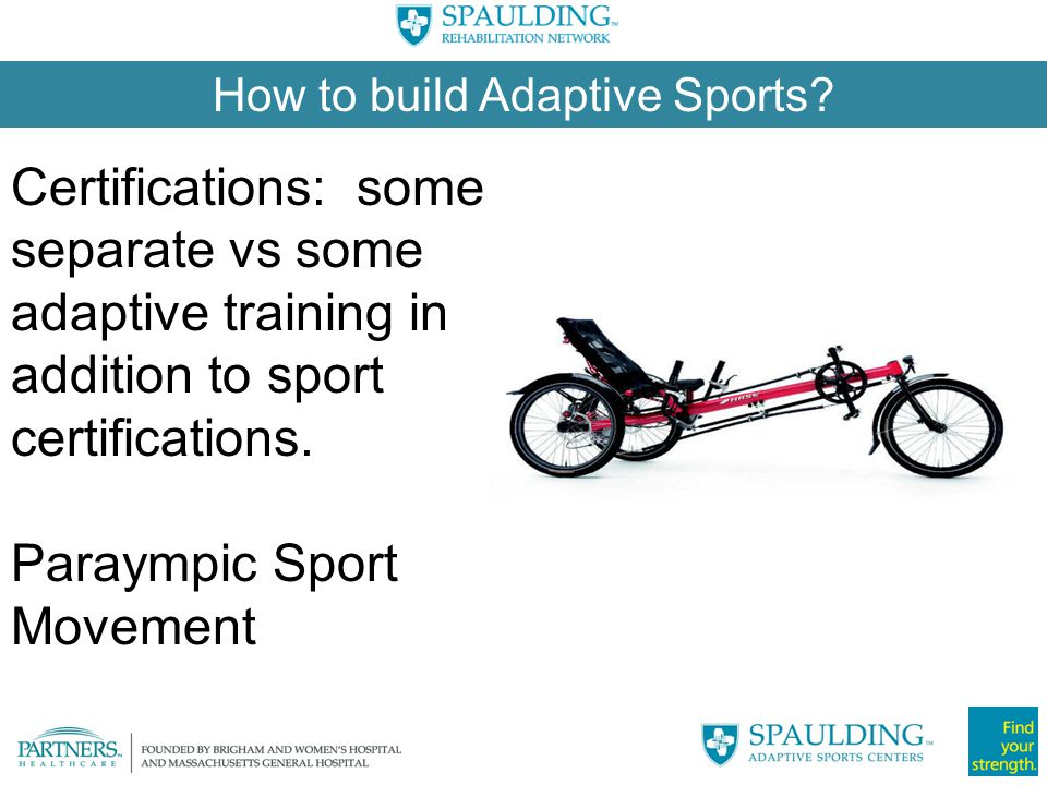 How to build Adaptive Sports