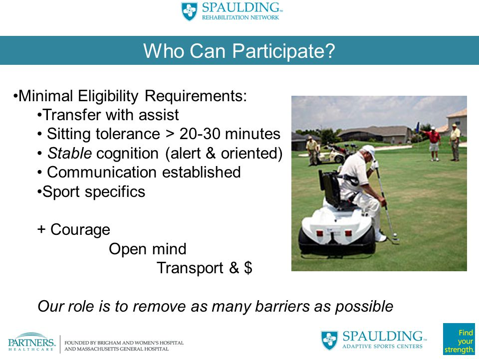 Who Can Participate Minimal Eligibility Requirements