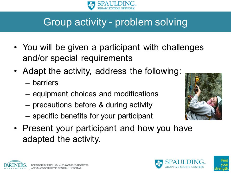 Group activity - problem solving