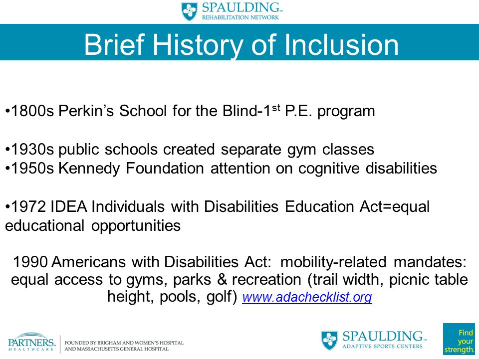 Brief History of Inclusion