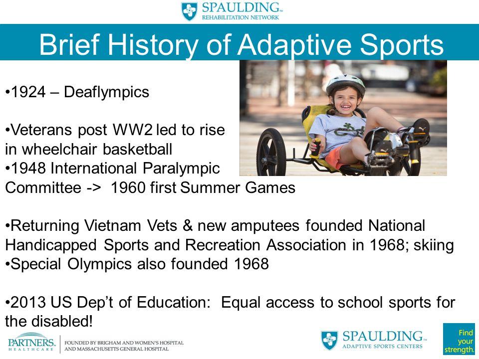 Brief History of Adaptive Sports