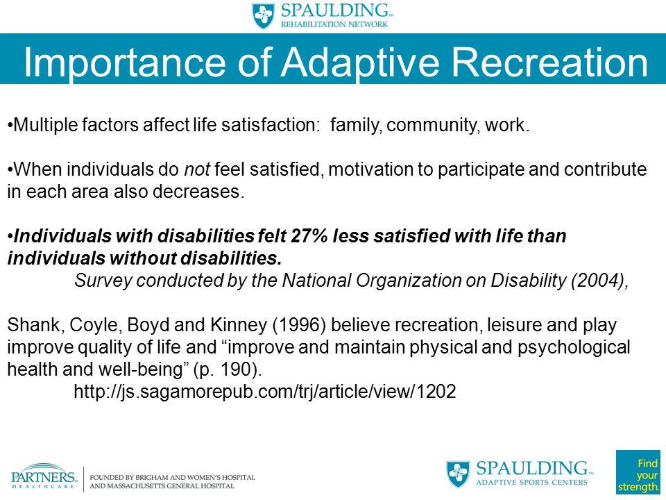 Importance of Adaptive Recreation