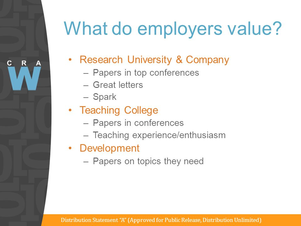What do employers value