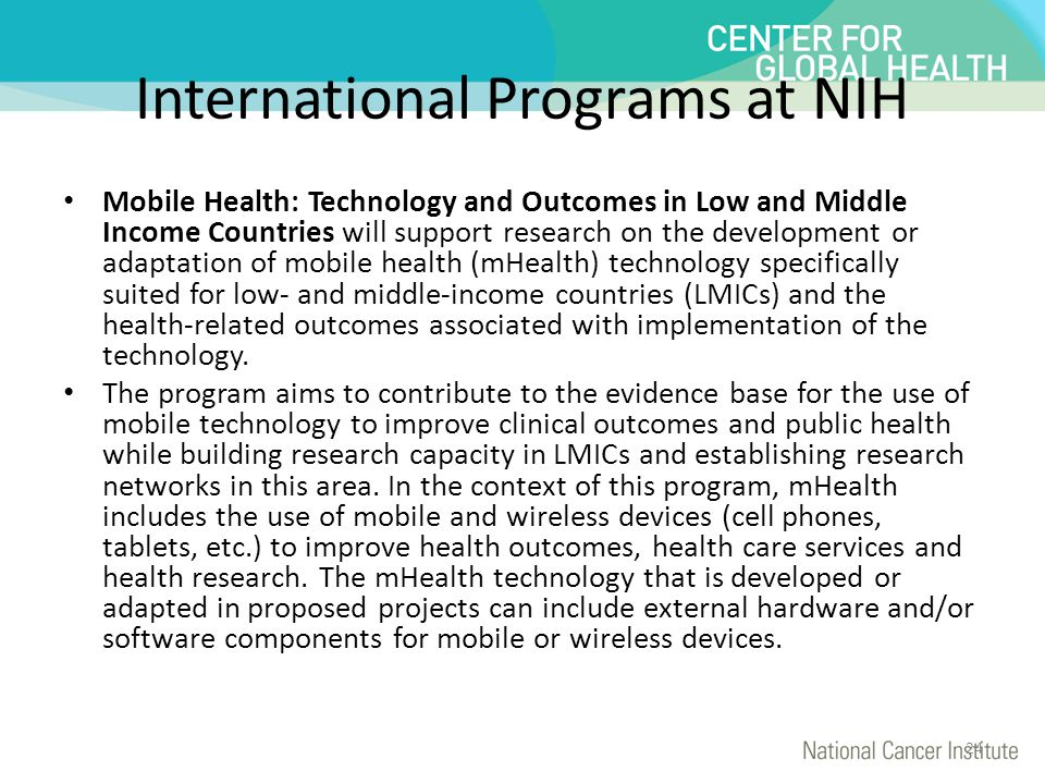 International Programs at NIH