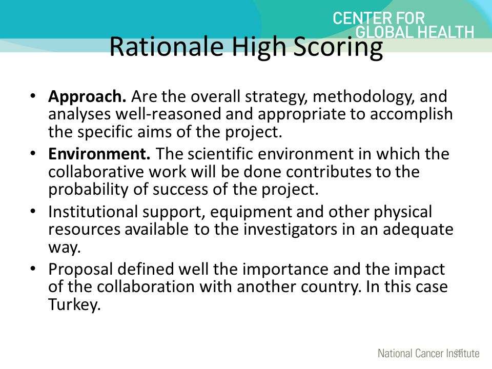 Rationale High Scoring