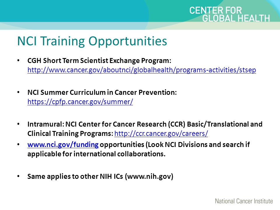NCI Training Opportunities