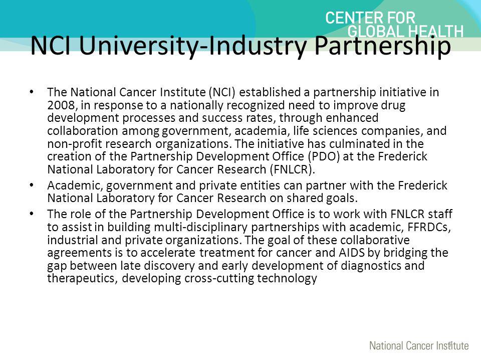NCI University-Industry Partnership