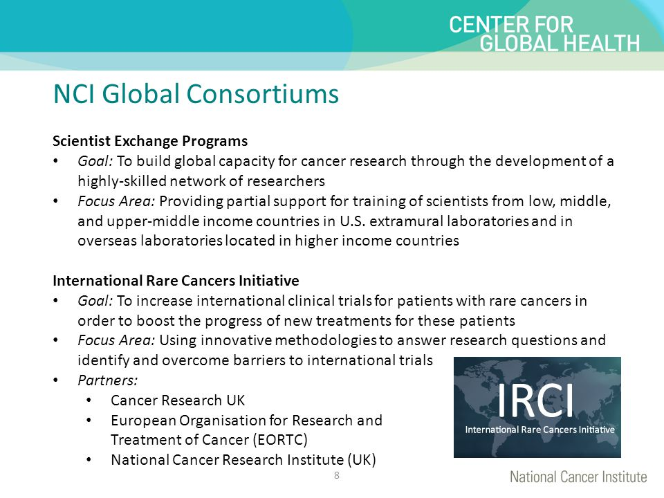 This is for title NCI Global Consortiums This is for text