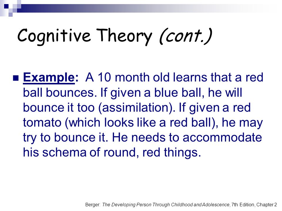 Cognitive Theory (cont.)