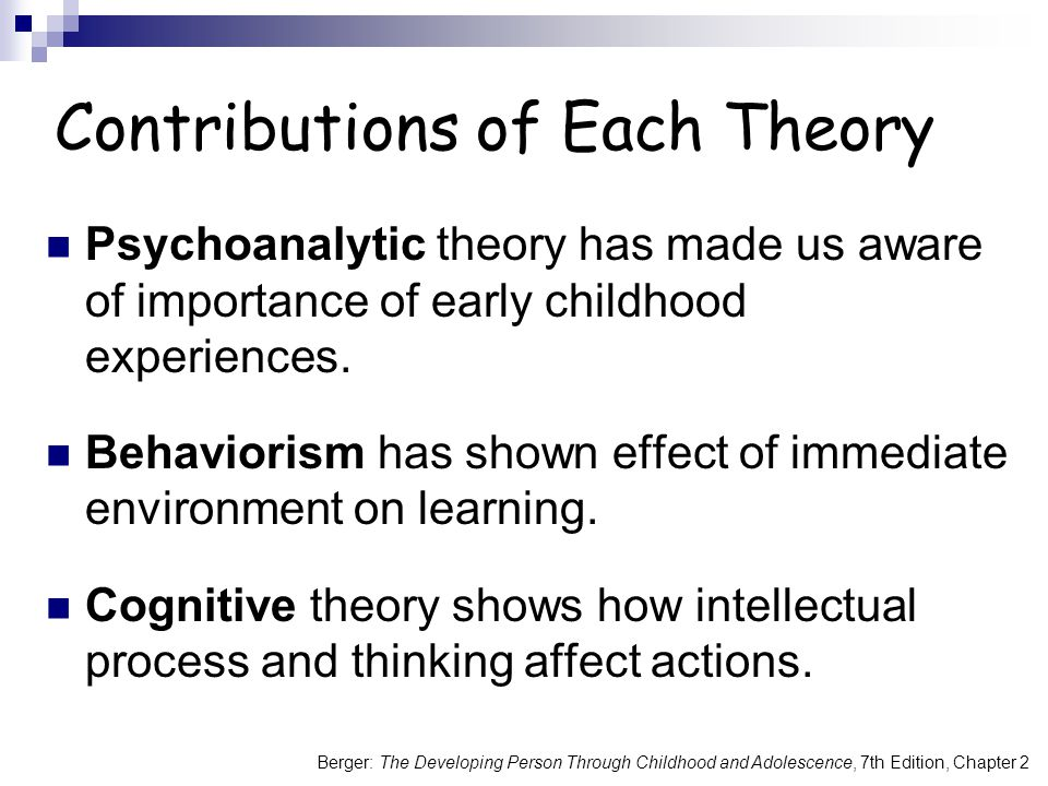 Contributions of Each Theory