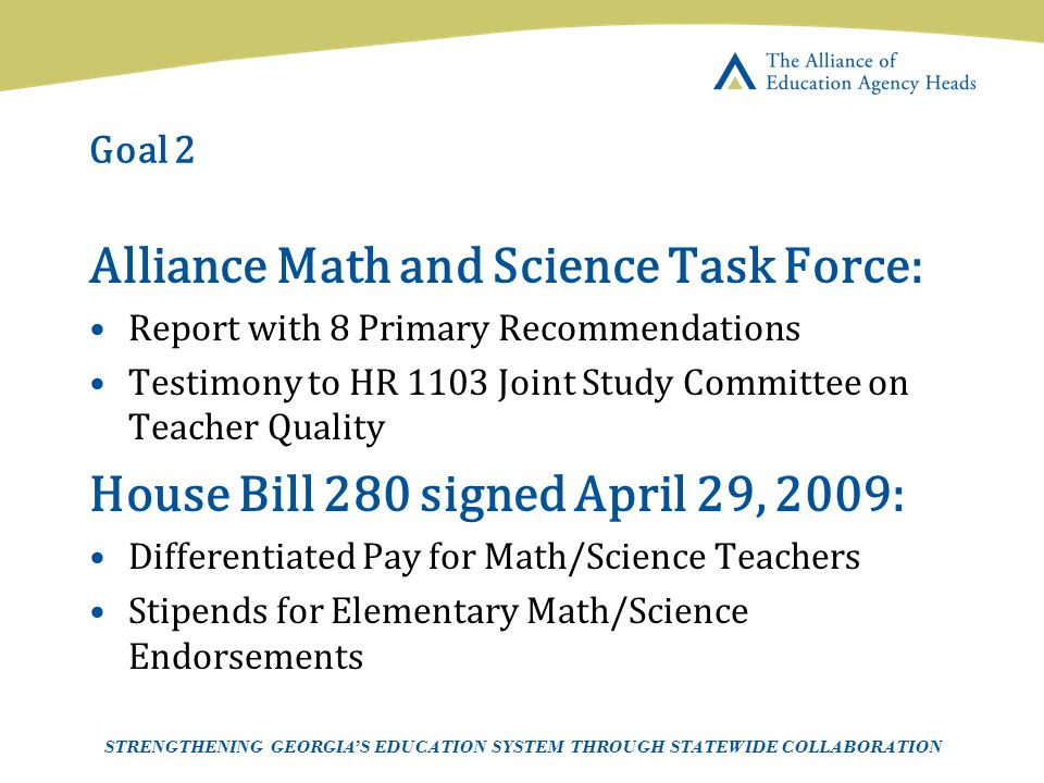 Alliance Math and Science Task Force: