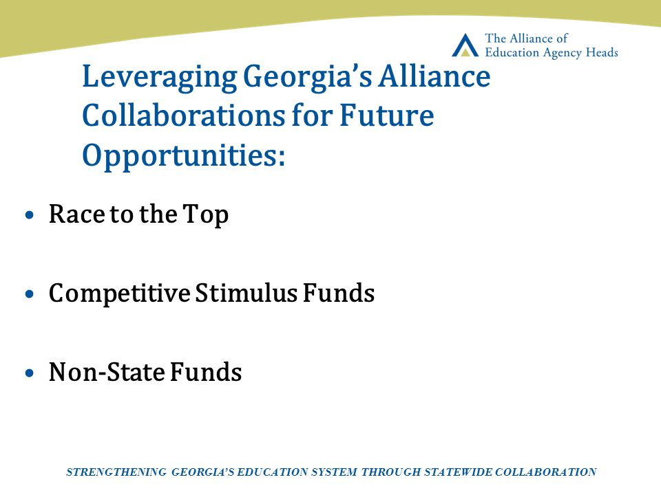 Leveraging Georgia's Alliance Collaborations for Future Opportunities: