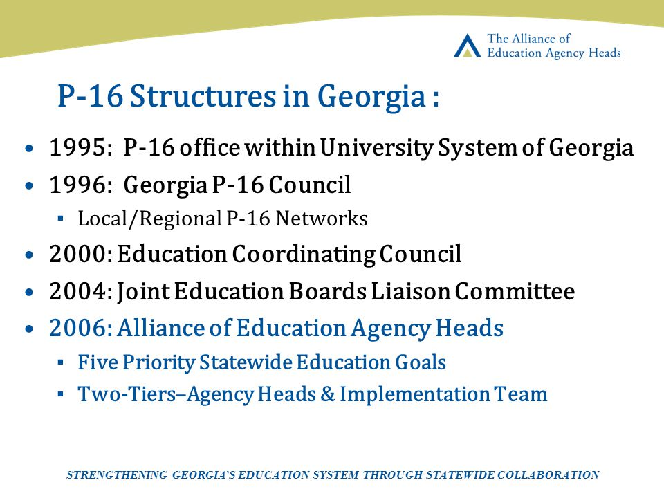 P-16 Structures in Georgia :