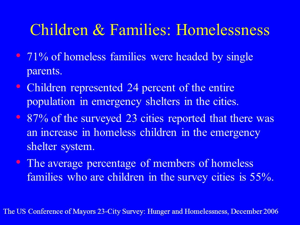 Children & Families: Homelessness
