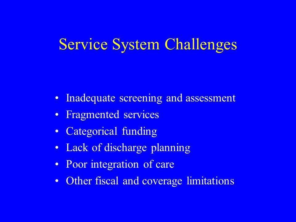 Service System Challenges