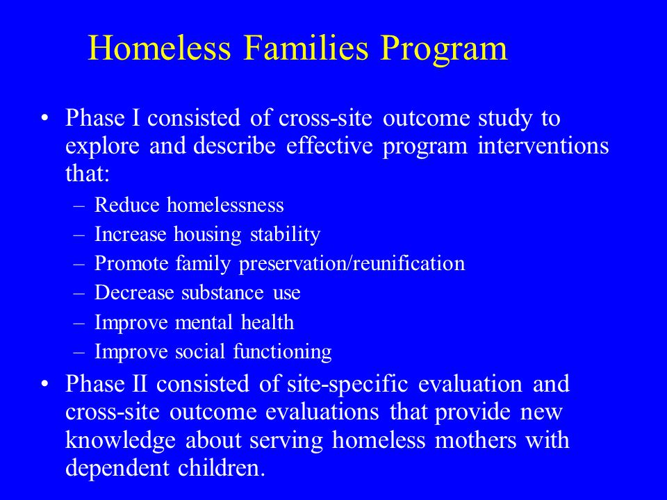 Homeless Families Program