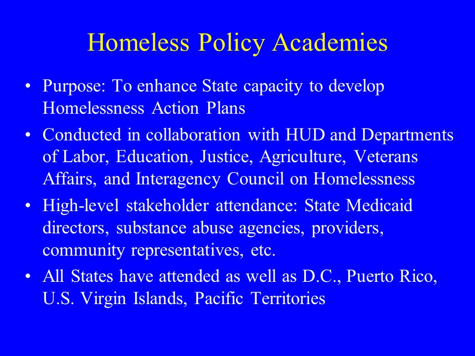 Homeless Policy Academies