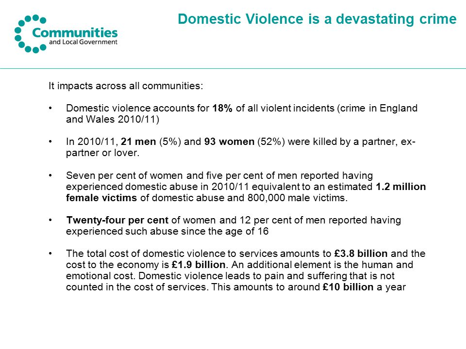Domestic Violence is a devastating crime