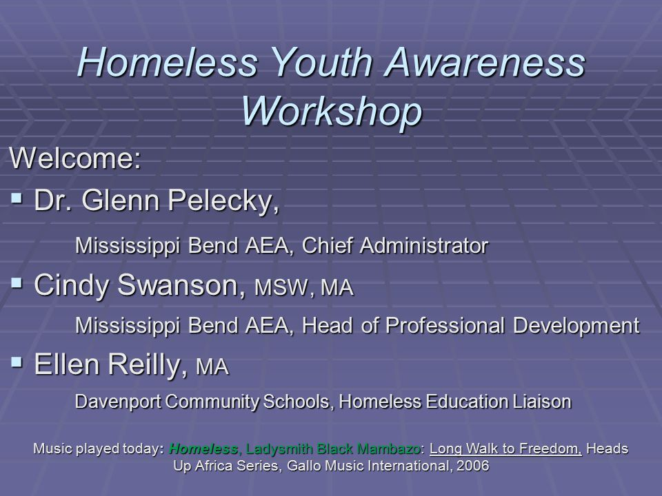 Homeless Youth Awareness Workshop