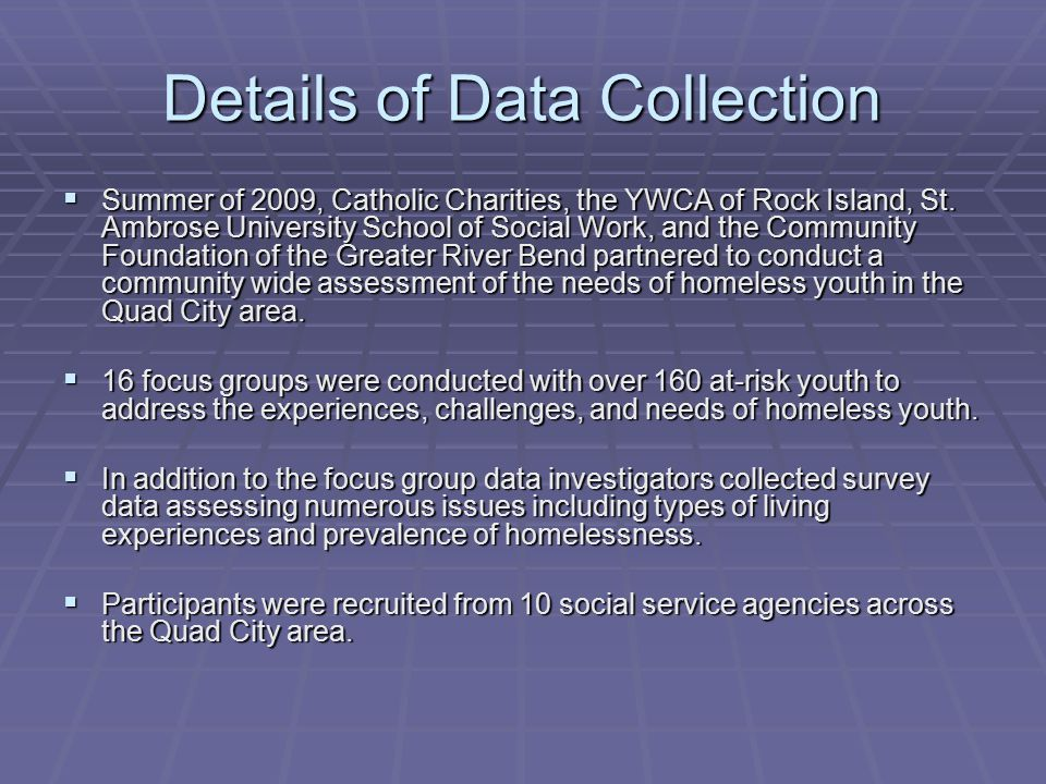 Details of Data Collection