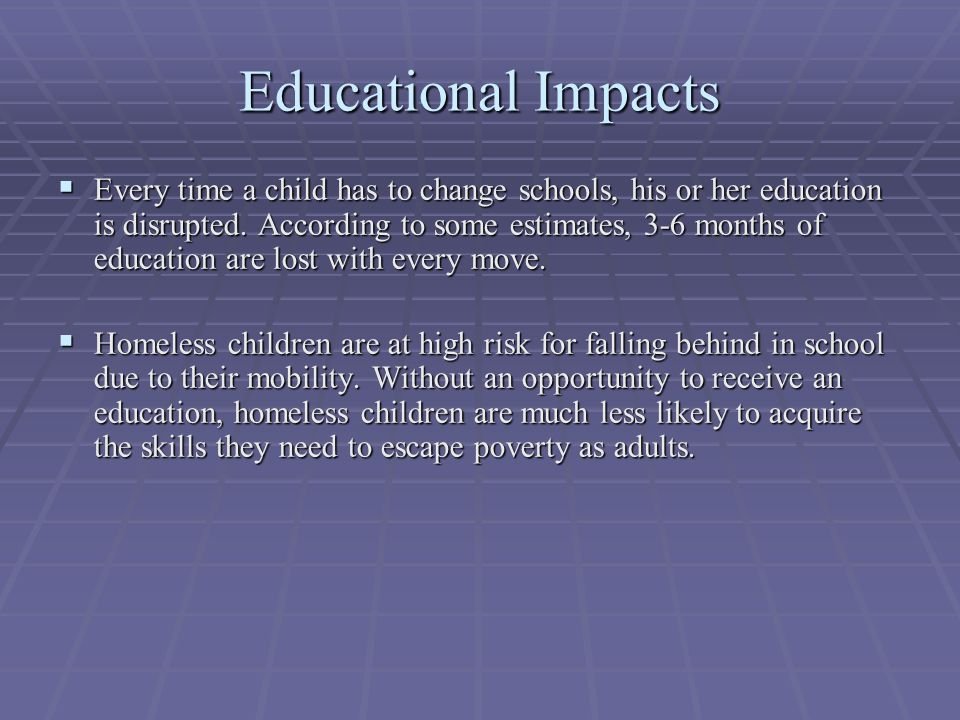 Educational Impacts