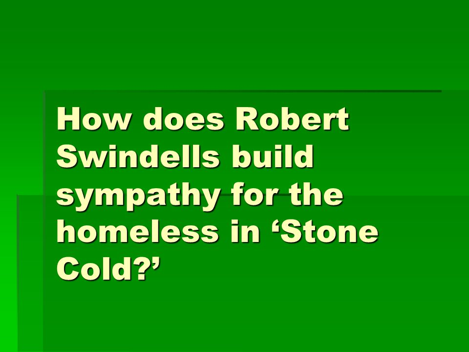 stone cold by robert swindells A review of the young adult thriller novel stone cold by robert swindells.