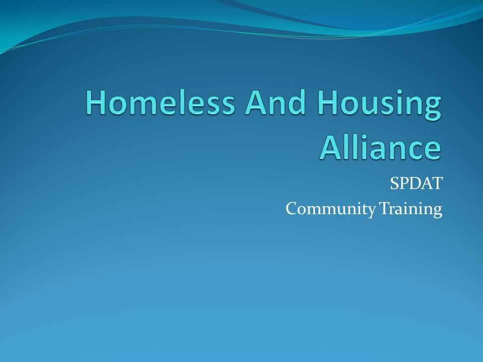 Homeless And Housing Alliance