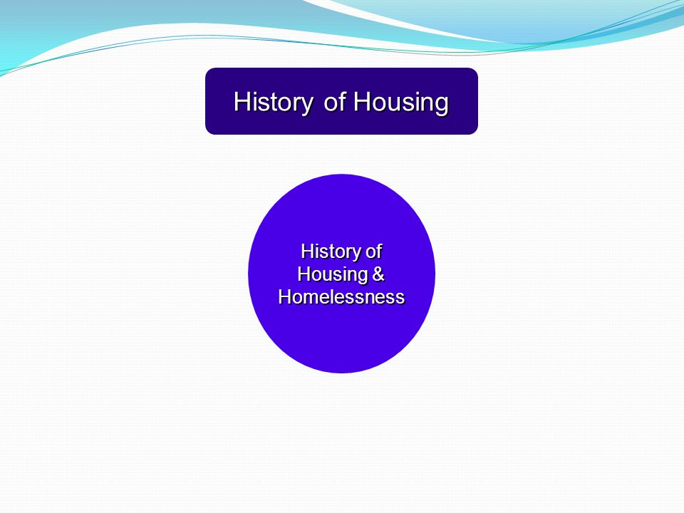 History of Housing & Homelessness