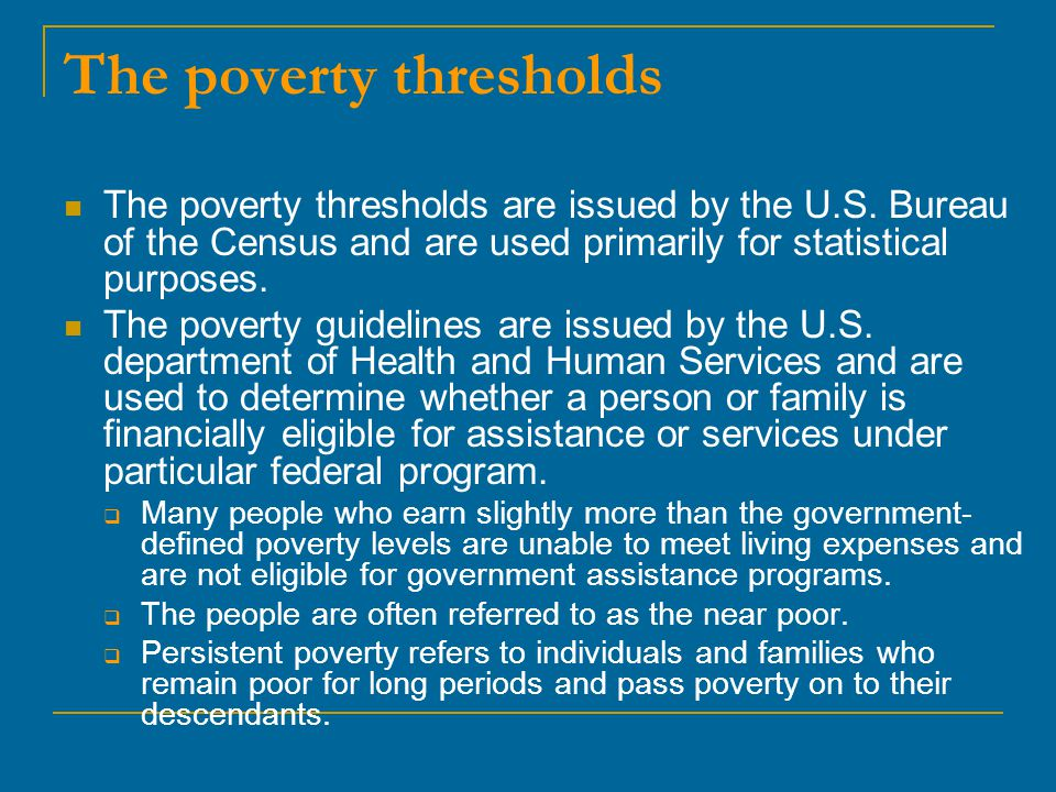 The poverty thresholds
