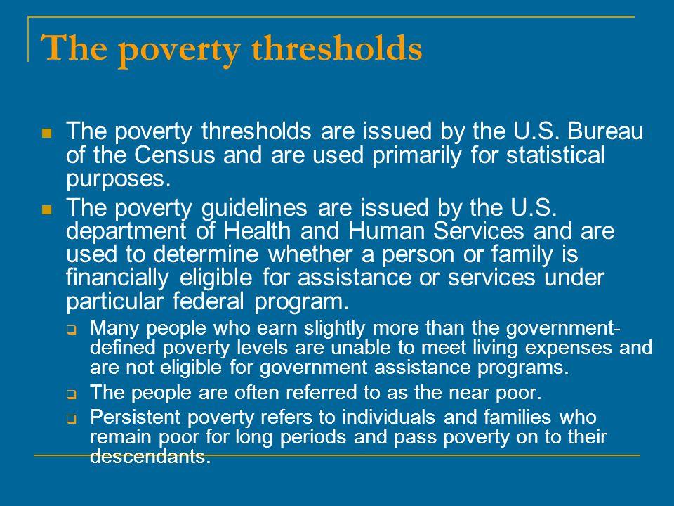The poverty thresholds