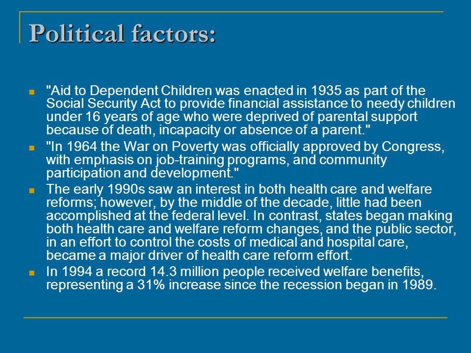 Political factors: