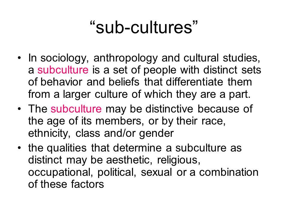 sub-cultures