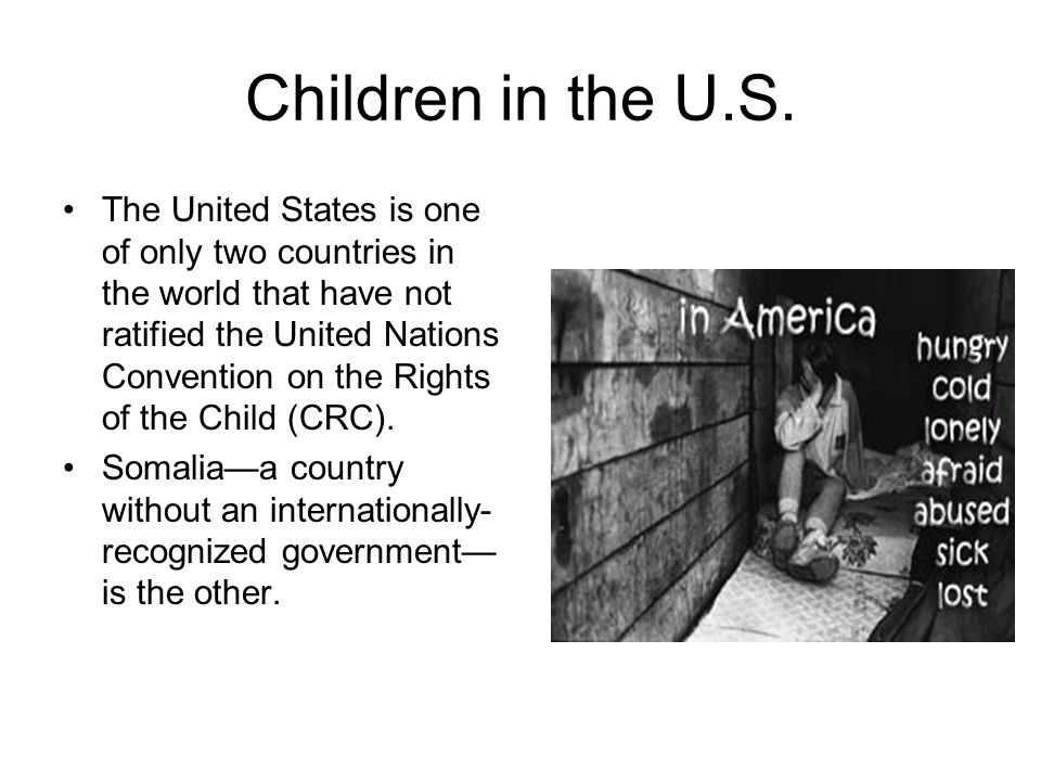 Children in the U.S.