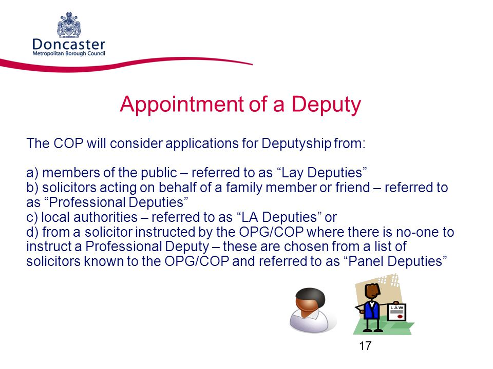 Appointment of a Deputy
