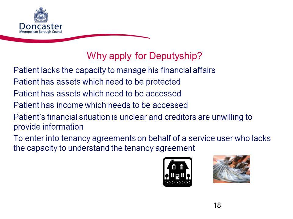 Why apply for Deputyship
