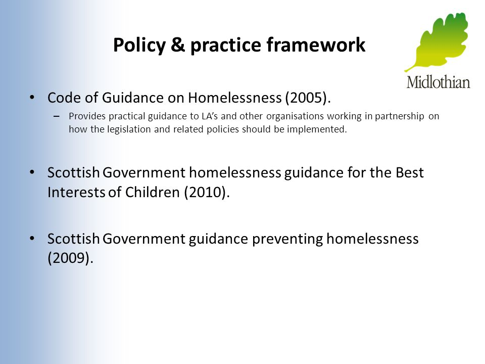 Policy & practice framework
