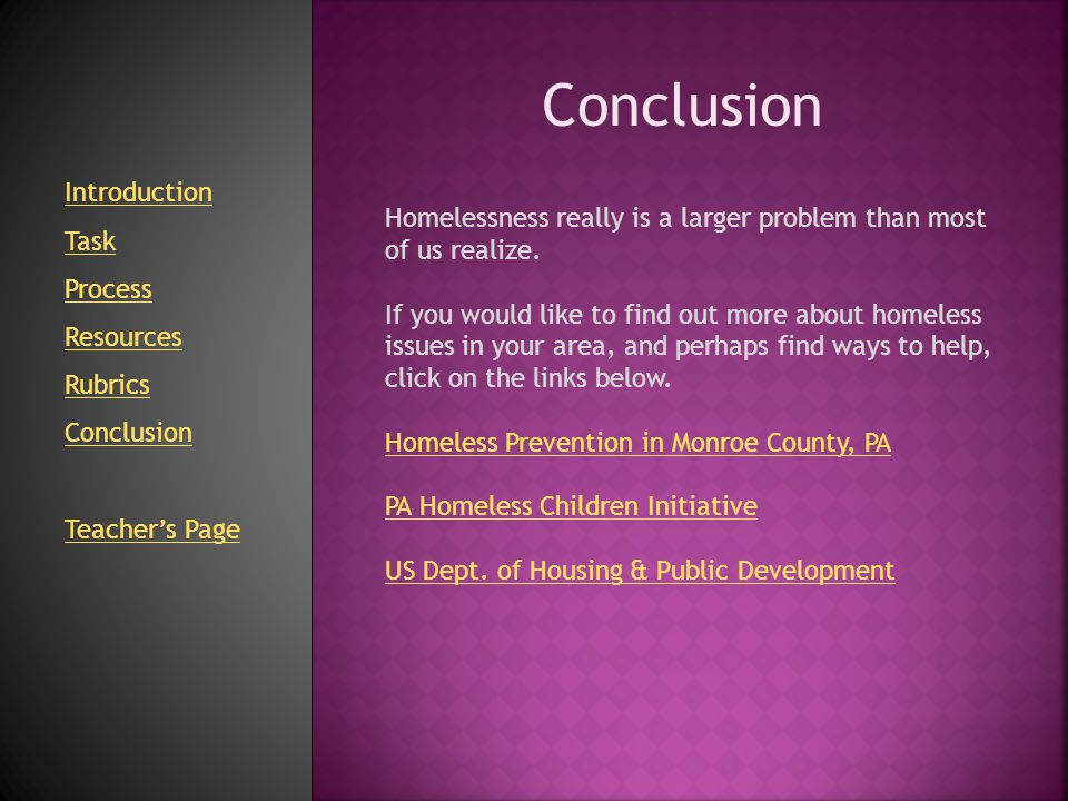 Conclusion Introduction Task