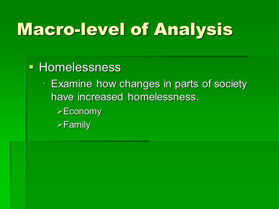 Macro-level of Analysis