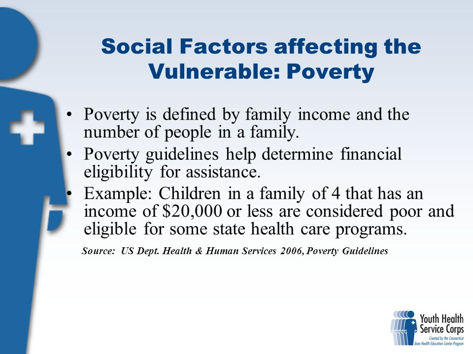 Social Factors affecting the Vulnerable: Poverty