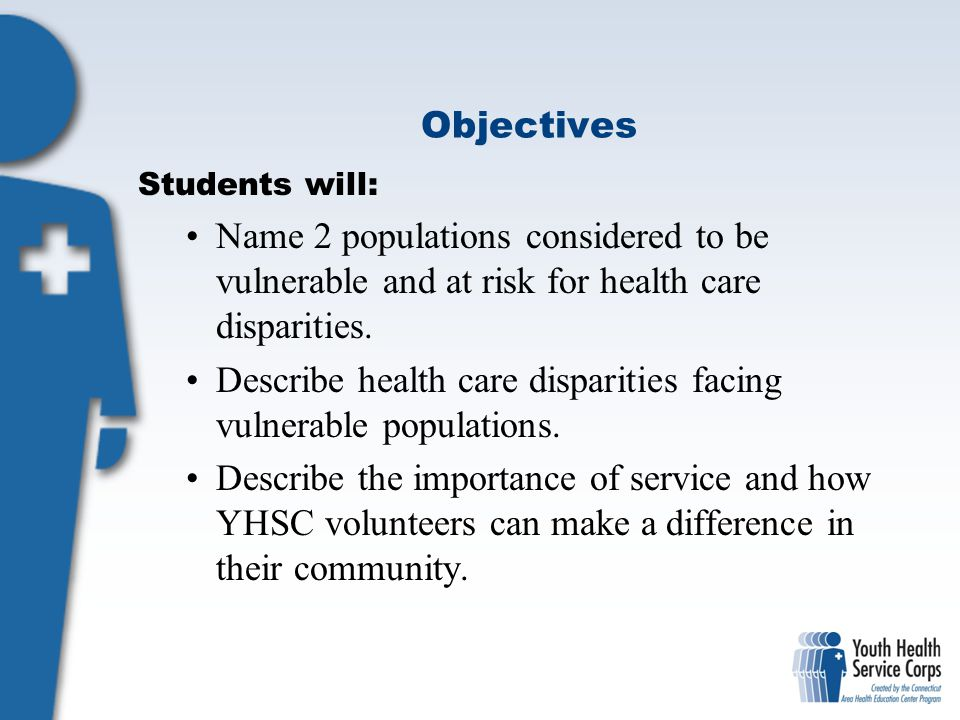 Describe health care disparities facing vulnerable populations.