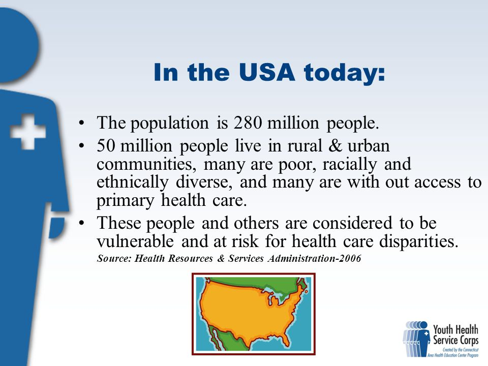 In the USA today: The population is 280 million people.