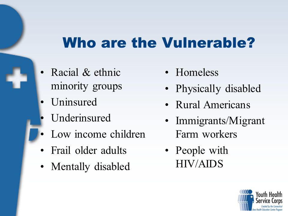 Vulnerable population the homeless vetrans