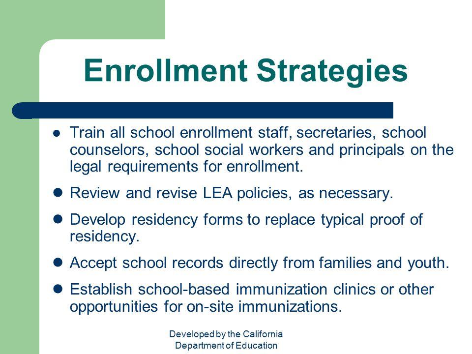 Enrollment Strategies