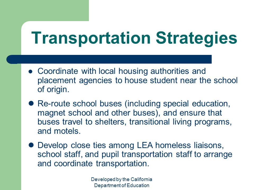 Transportation Strategies