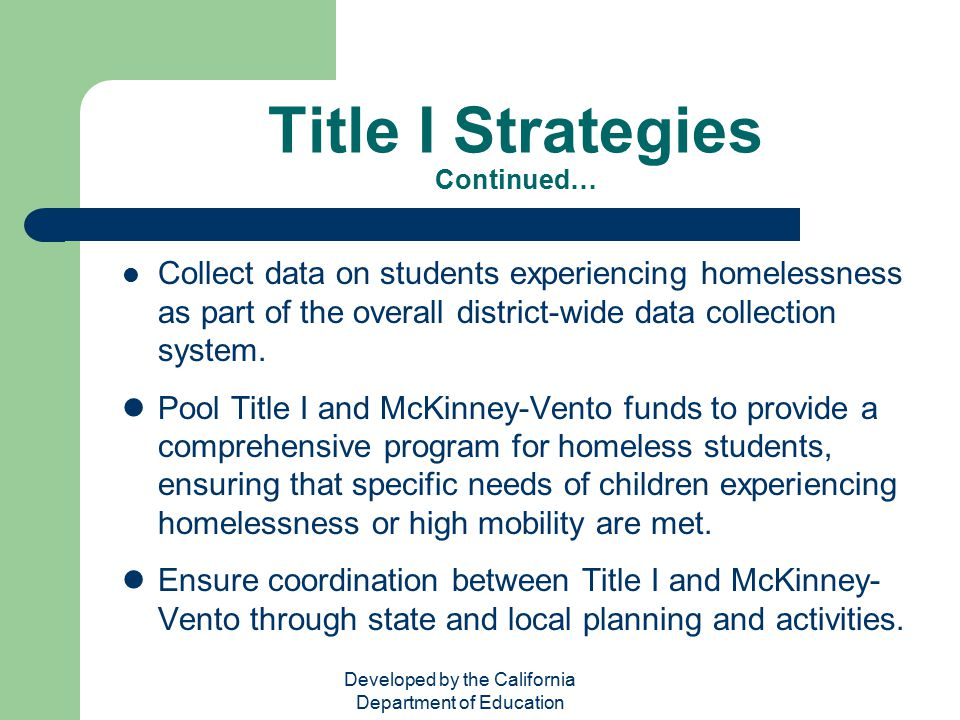 Title I Strategies Continued…