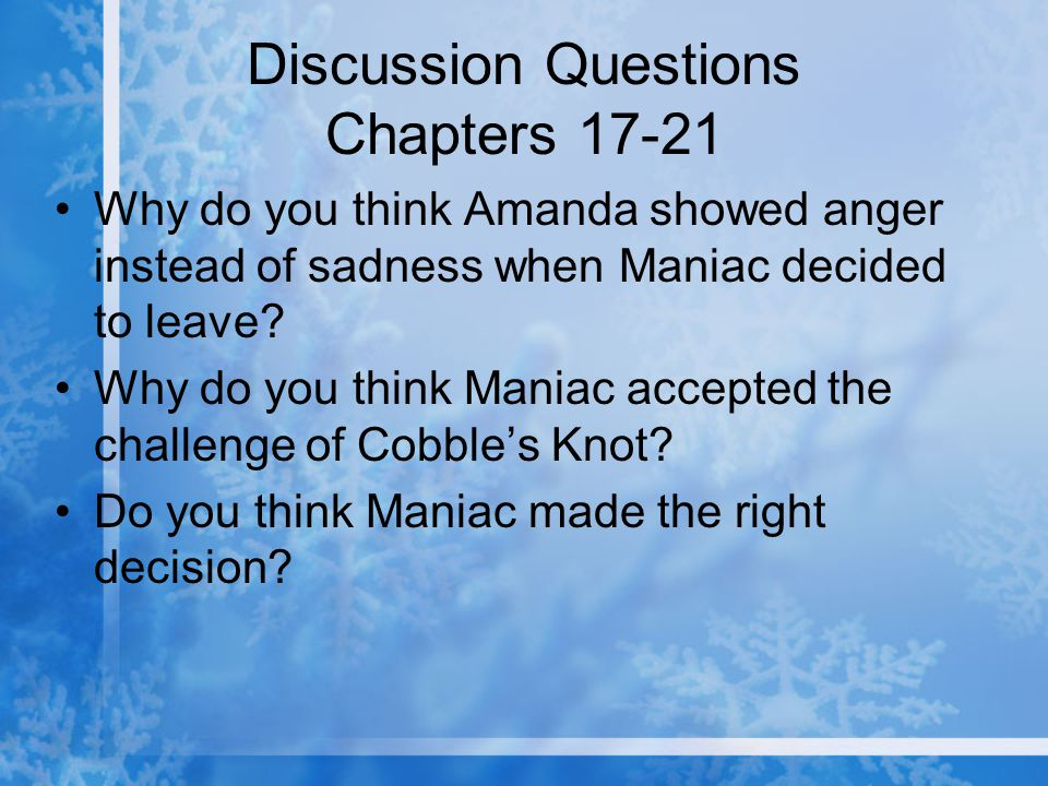 Discussion Questions Chapters 17-21