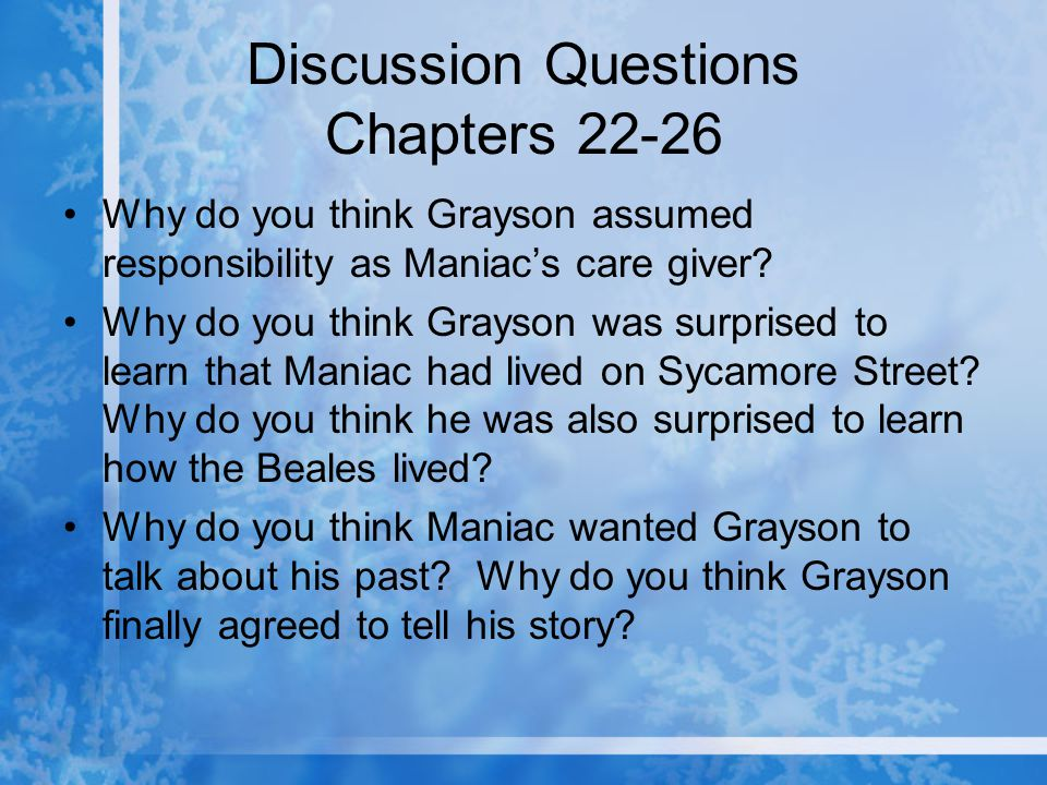 Discussion Questions Chapters 22-26