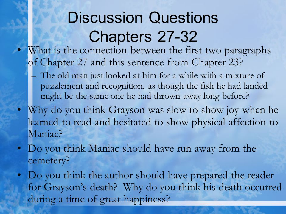 Discussion Questions Chapters 27-32