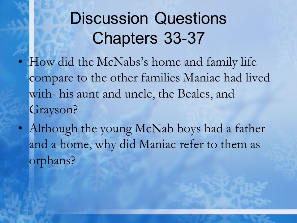 Discussion Questions Chapters 33-37